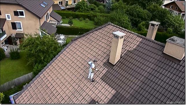 application résine traitement toiture